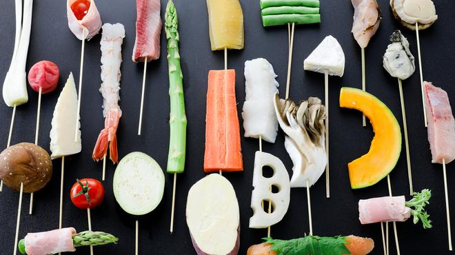 十彩 - 料理写真:揚げたて!串天ぷら各種