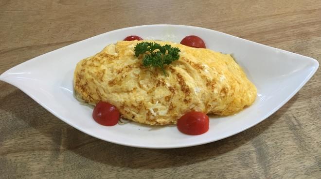 蕎仙 - 料理写真:蕎仙自慢のだし巻き卵で人気の十割蕎麦でイタリアンをフワッとつつみました、一度で二度美味しい。