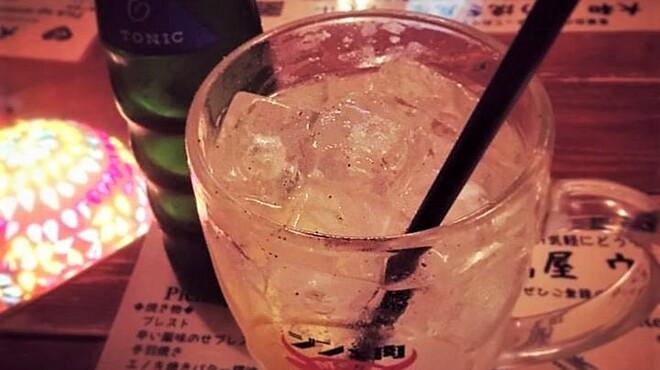 大和 笑う焼き鳥屋 ウルル - ドリンク写真:ウルルの大人気ドリンク「特製ジントニ」で乾杯しましょう。