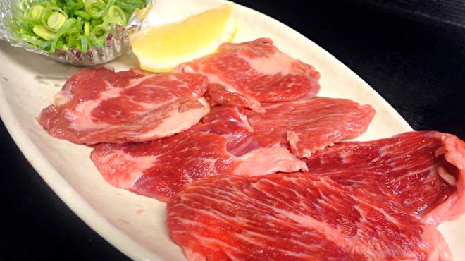 ひびの亭 - 料理写真:ネギ塩牛のタン下680円(税込734円)…タンを下あごにつないでいる部分。