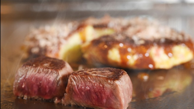 L'ajitto - 料理写真:ステーキ&お好み焼き