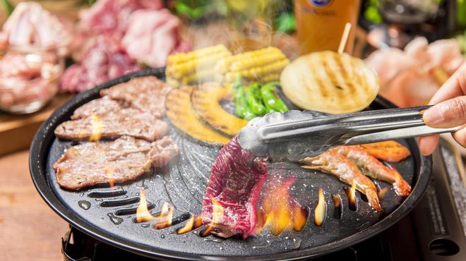 スカイビューフードコート池袋屋上ビアガーデン東武 - 料理写真:ビアガーデンBBQお一人様3,480円