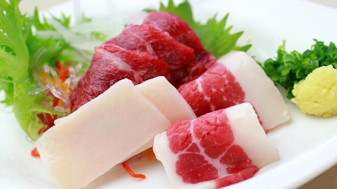 菅乃屋 - 料理写真:馬刺し三種盛り