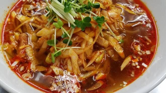 アイニーズ - 料理写真:ネギとザーサイの辛し和え麺