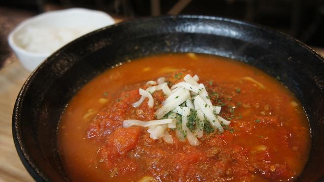 我達食堂 - 料理写真:ソバ出汁とトマトの相性が抜群です。