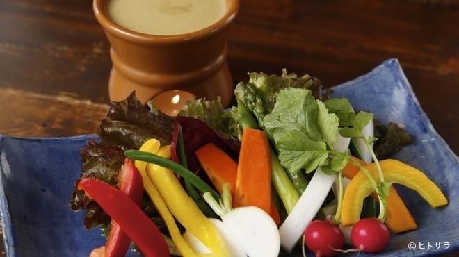 こっこのすけ - 料理写真:5位 地野菜の美味しさを満喫できる『下野野菜のバーニャカウダー』