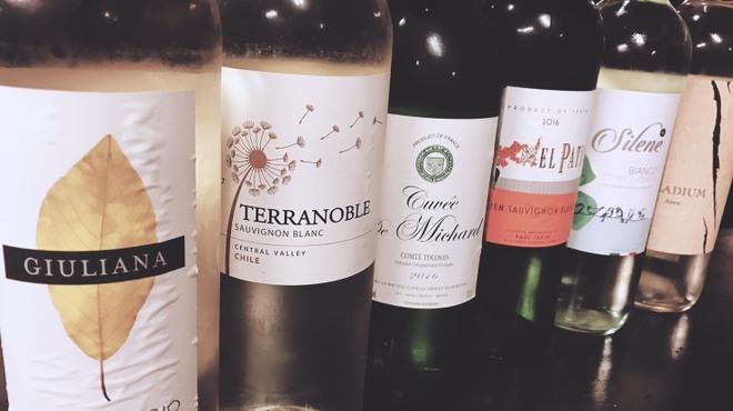 呑喰楽座 タベルバ - ドリンク写真:ボトルワイン飲み放題あります♪