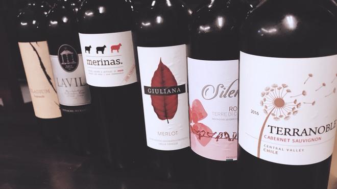 呑喰楽座 タベルバ - ドリンク写真:赤・白・泡20種類のボトルワイン飲み放題!