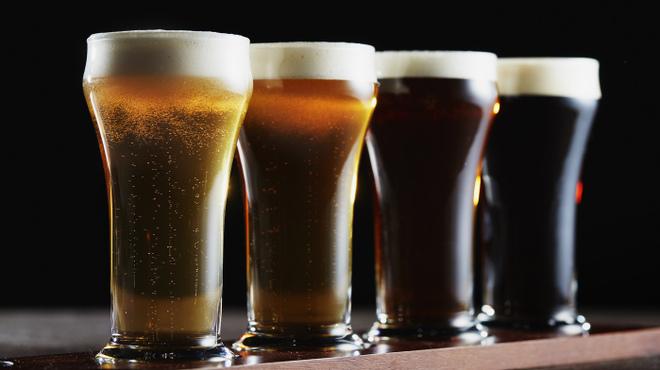 ザ・ステーキハウス - ドリンク写真:4種のクラフトビールの見比べ