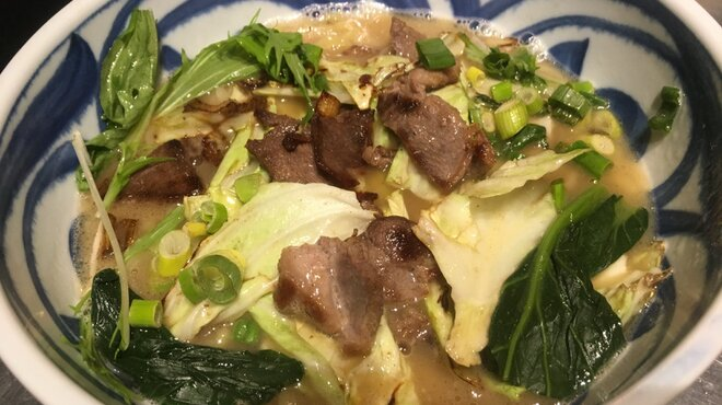 花菜 - 料理写真:地美恵ラーメン gibier ramen
