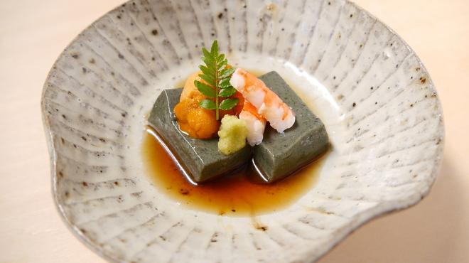 そば会席 立会川 吉田家 - 料理写真:よもぎ豆腐