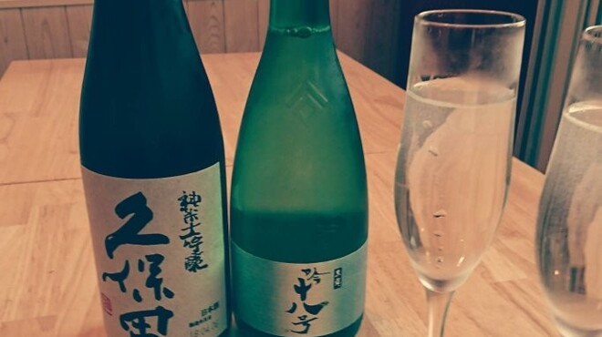 cocomi 心味 - ドリンク写真:久保田純米酒大吟醸、黒龍吟十八号