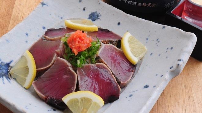 ときすし - 料理写真:カツオのタタキ