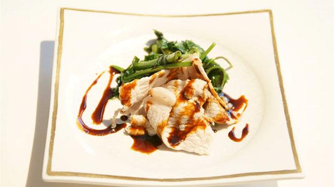 メゾン・ド・ユーロン - 料理写真:国産ハーブ豚ロースの甘辛ソース