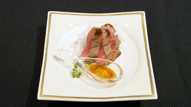 メゾン・ド・ユーロン - 料理写真:短角牛フィレ肉のステーキ 椒麻ソース
