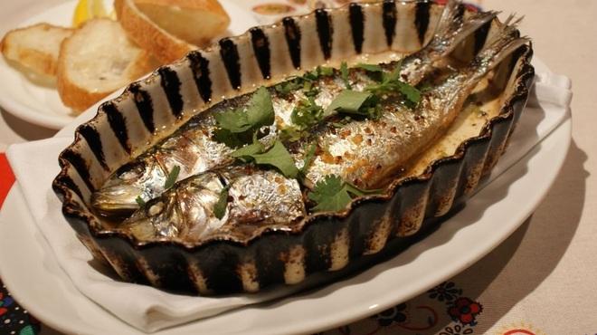 ヴィラモウラ - 料理写真:イワシのオーブン焼き
