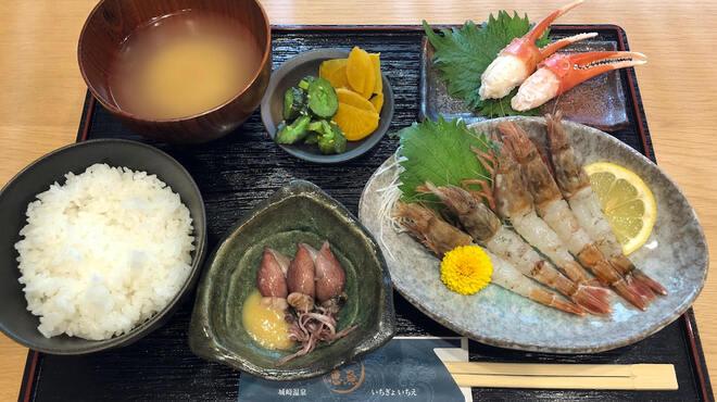 一魚一恵  - 料理写真:獲れたて白エビ定食です!(6月~9月まで休漁中です)