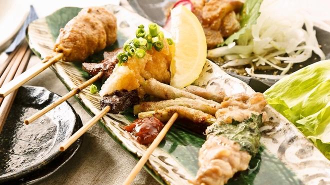 炭火焼鳥・野菜豚バラ巻 勇屋熟成鶏十八番 - メイン写真: