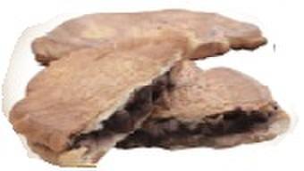 ブーランジェリー リシェット - 料理写真:塩あんパン 120円 塩パンを薄くカリカリに焼いて、あんこをはさみました。