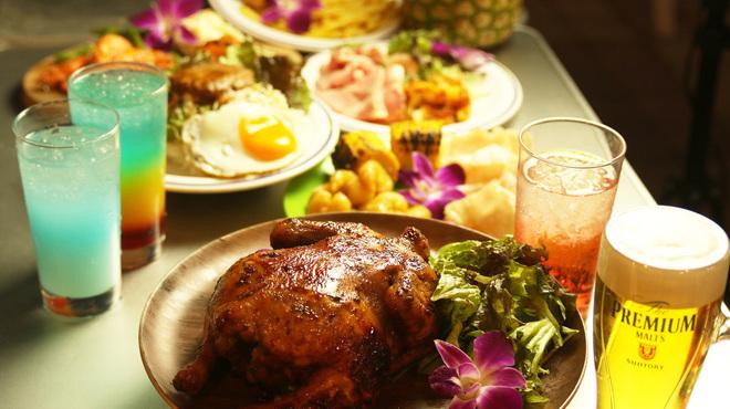 サントリー大人のビアガーデン BeerBank HawaiianBBQ - 料理写真: