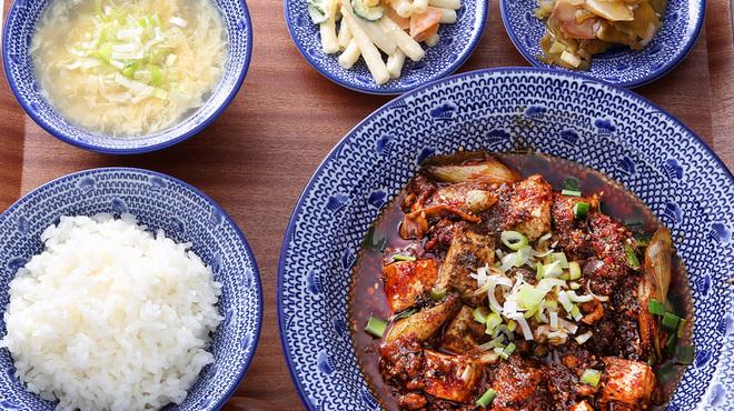 """自家製麺 魚担々麺・陳麻婆豆腐 """"dan dan noodles"""" - 料理写真:陳麻婆豆腐定食"""