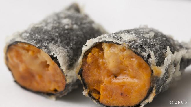 天ぷら わかやま - 料理写真:ウニの磯巻き