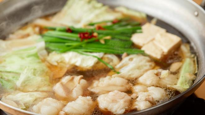 酔灯屋 - 内観写真:[もつ鍋]出汁は天然素材、野菜は無農薬です