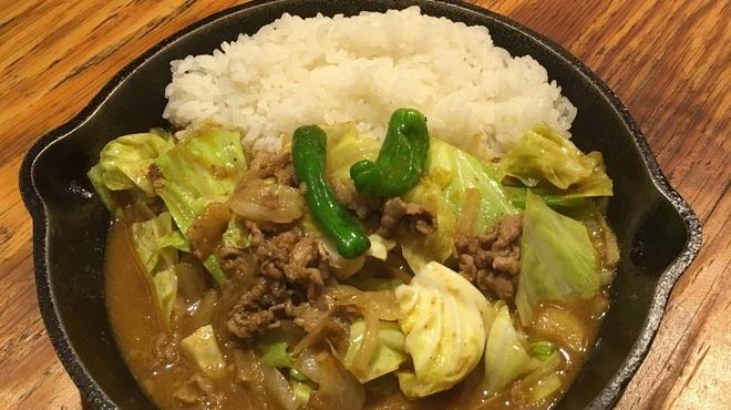 野菜を食べるカレーcamp - 料理写真:キャベツと牛肉の回鍋肉カレー