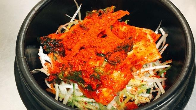母韓の台所 - 料理写真:赤唐辛子入りキムチ納豆