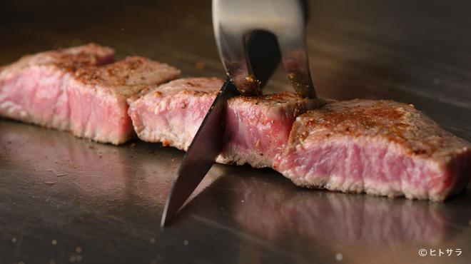 鉄板屋燈 - 料理写真:上質な能登牛を、ステーキでいただく贅沢な一品『能登牛赤身モモステーキ』