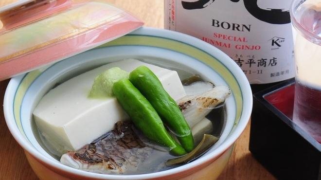 ときすし - 料理写真:豆腐と白身魚の信儂田蒸し