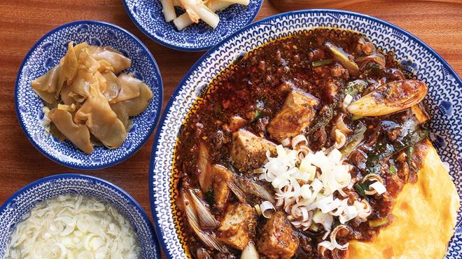 """自家製麺 魚担々麺・陳麻婆豆腐 """"dan dan noodles"""" - 料理写真:天津麻婆飯定食"""