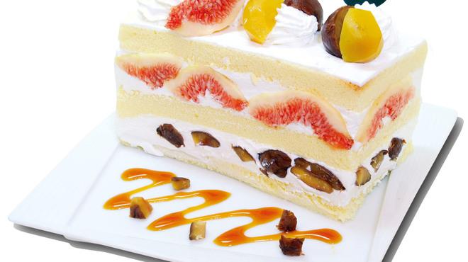 フォーシーズンズカフェ - 料理写真:イチジク&マロンのプレミアムジャンボショートケーキ  『10月限定』