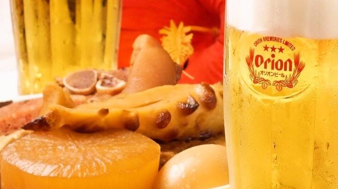 沖縄居酒屋 パラダヰス - ドリンク写真:沖縄おでんとオリオンビールの相性は最高です!