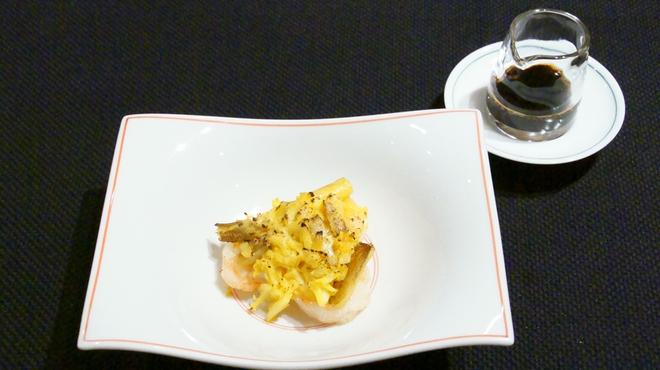 メゾン・ド・ユーロン - 料理写真:エビと上海蟹のオーブン焼き 黒酢スープ