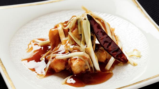 メゾン・ド・ユーロン - 料理写真:活鰻と黄金ニラの辛みあん