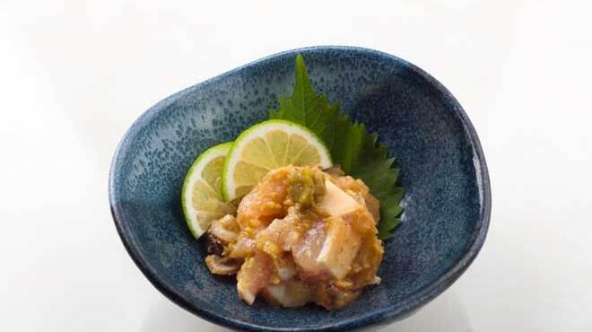 舶来屋黒船 - 料理写真:薩摩知覧鶏のかぼす胡椒味噌和え