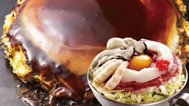 鶴橋風月 - 料理写真:◆冬限定◆「かきミックス玉」かき、いか、えび、ぶた、牛肉入りの贅沢なお好み焼き