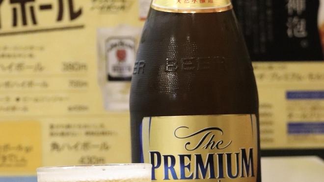 新萬丸亭 - ドリンク写真:プレミアムモルツ瓶ビール