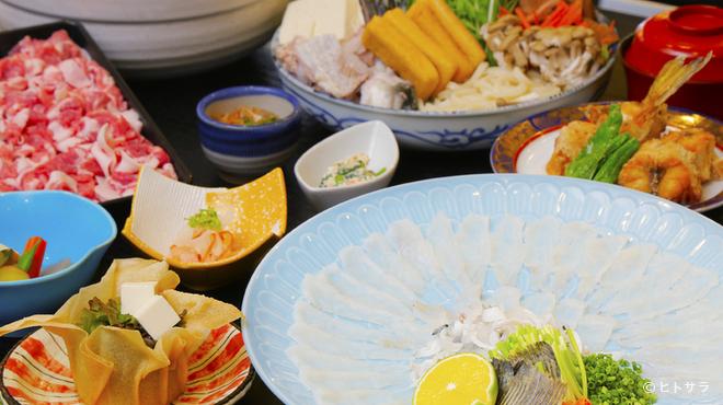 わらびの里 - 料理写真:全室個室 日本庭園を眺めながら贅沢コース料理に舌鼓