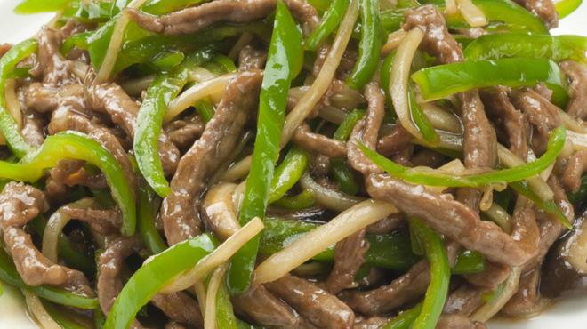 中国料理 新北京 - 料理写真:牛肉とピーマンの炒め