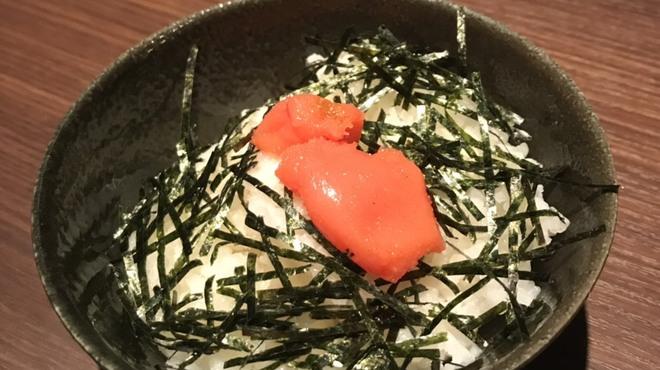辛麺 華火 - 料理写真:明太子ご飯