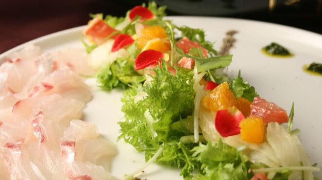カスコロッソ - 料理写真:鮮魚のカルパッチョ