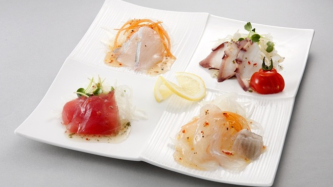 風来坊 - 料理写真:四色カルパッチョ