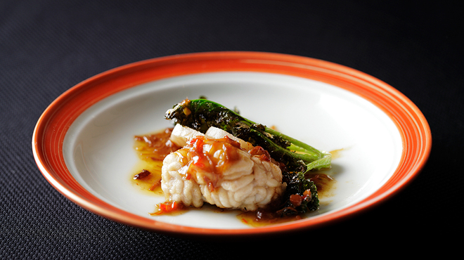 メゾン・ド・ユーロン - 料理写真:真鱈白子のソテーXO醤油添え
