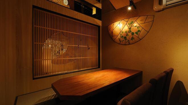旧月 - 内観写真:落ち着いた『和』の空間。6名様用個室。