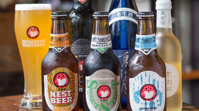常陸野ブルーイング水戸 - ドリンク写真:常陸野ネストビールと輸入ビール各種
