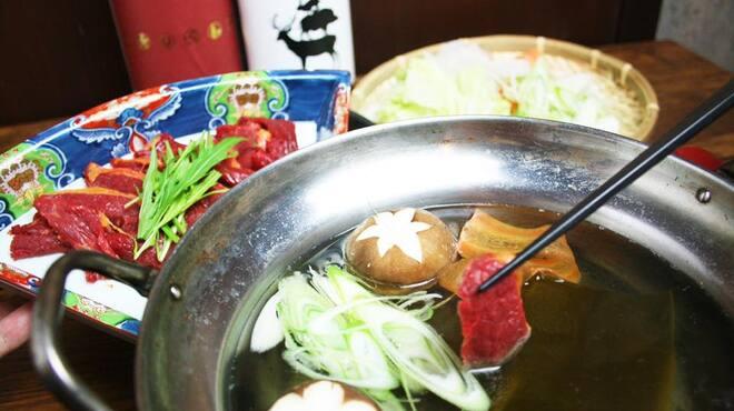馬かもん - 料理写真:馬しゃぶしゃぶ!アッサリ美味い!