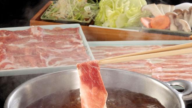 九州酒場 - 料理写真:鹿児島 もち豚のしゃぶしゃぶ