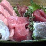 まるたか - 刺身定食。昼は1100円。夜は1700円。